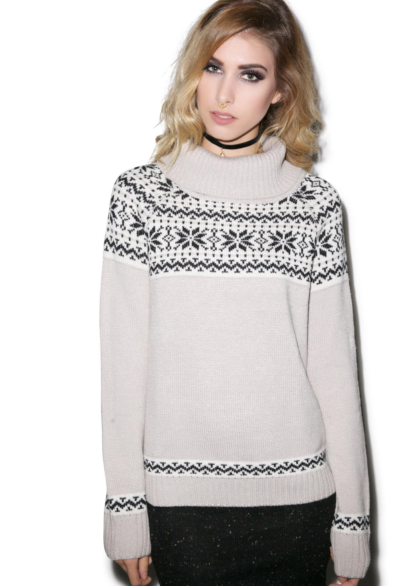 For Love & Lemons Snowed In Sweater