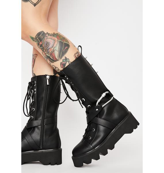 Disturbia Nihilist Combat Boots
