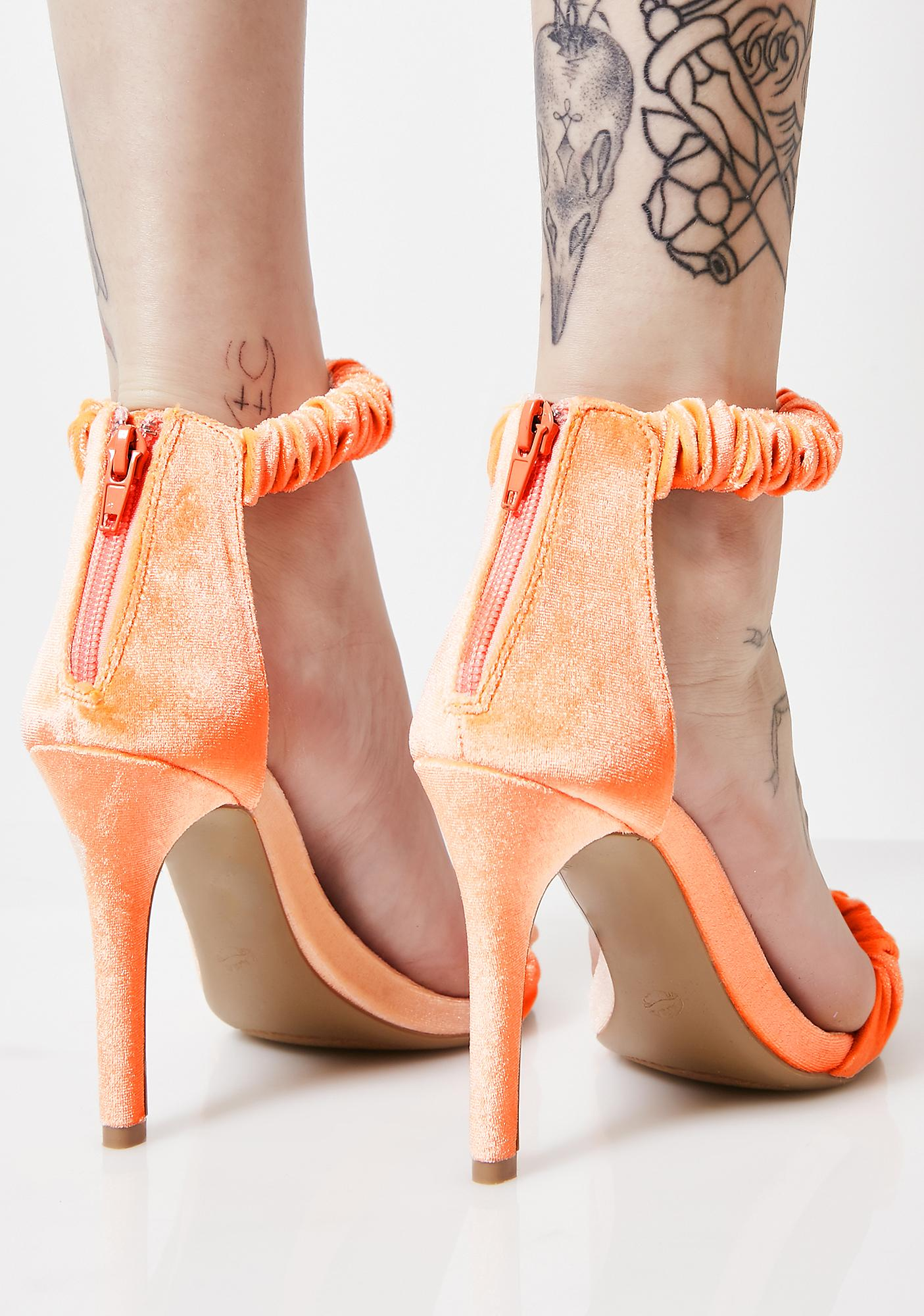 Creamsicle Jazzercise Your Mind Velvet Heels