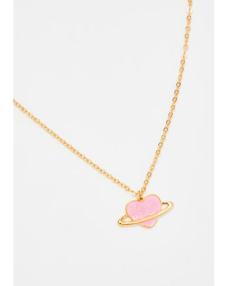 Planet Of Love Chain Necklace
