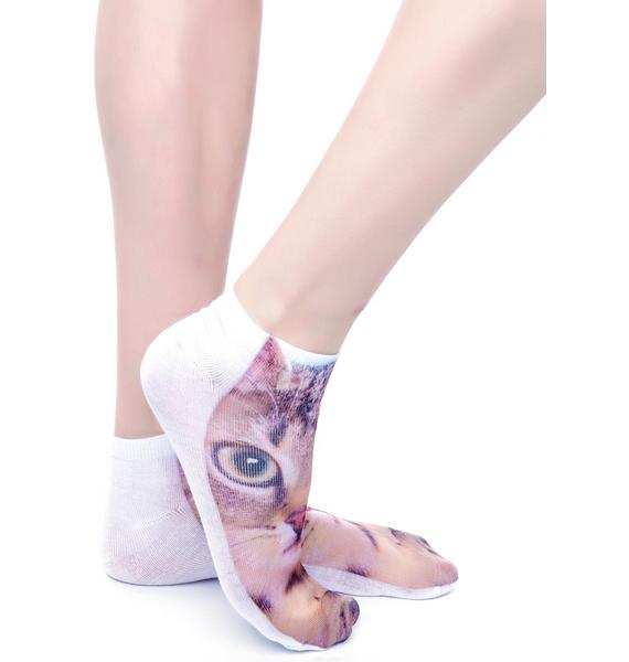 Chase the Kitten Ankle Socks