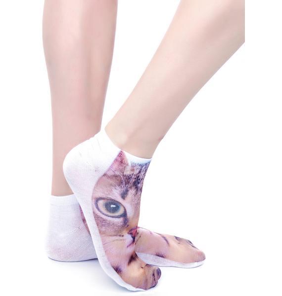 Chase the Kitten Ankle Socks