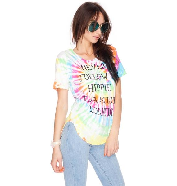 Never Follow A Hippie Tee