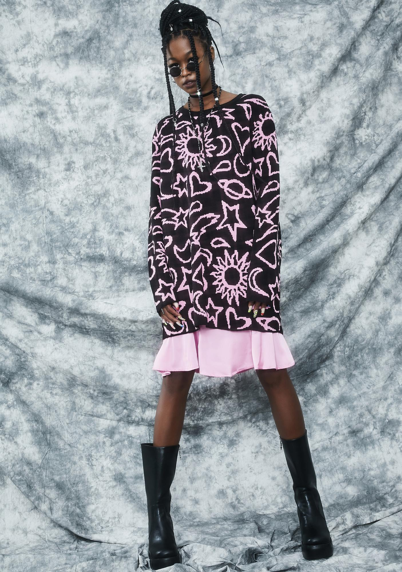dELiA*s by Dolls Kill Girl Of Ur Nightmares Intarsia Sweater