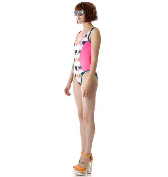Coveted Society Doll Heads Hair Wrap Swimsuit
