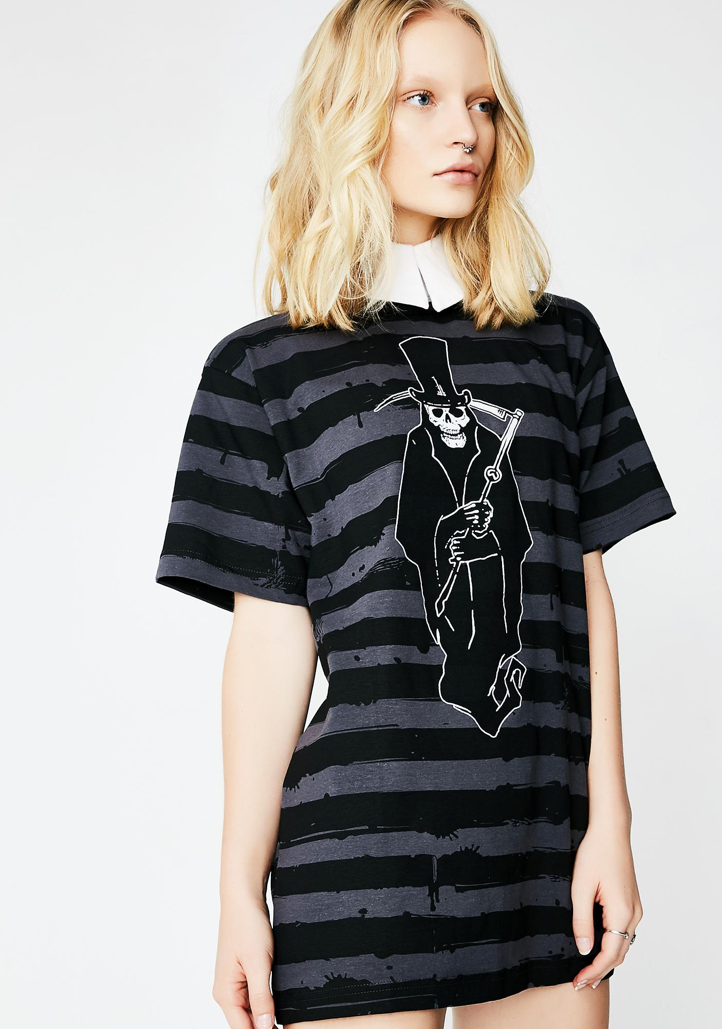 Kreepsville 666 Mr. Reaper Striped T-Shirt