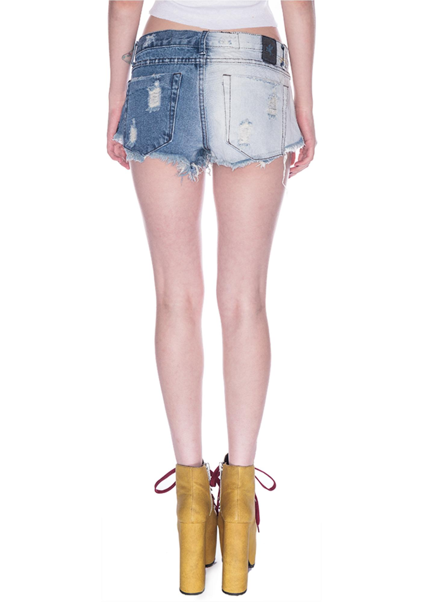 One Teaspoon Domino Trashwhores Shorts