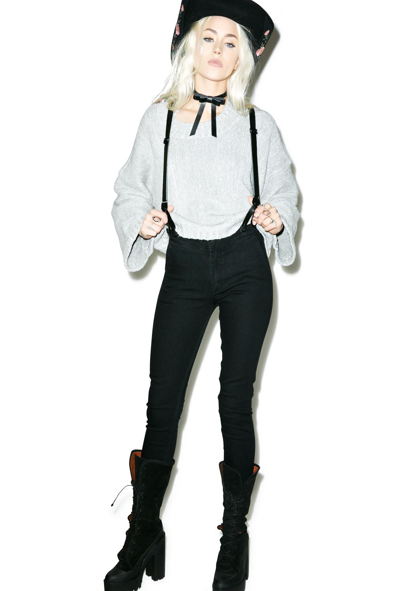Courtshop James Skinny Jeans With Suspenders