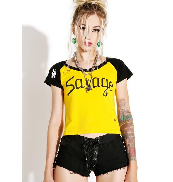 Current Mood Pretty Vacant Lace-Up Shorts