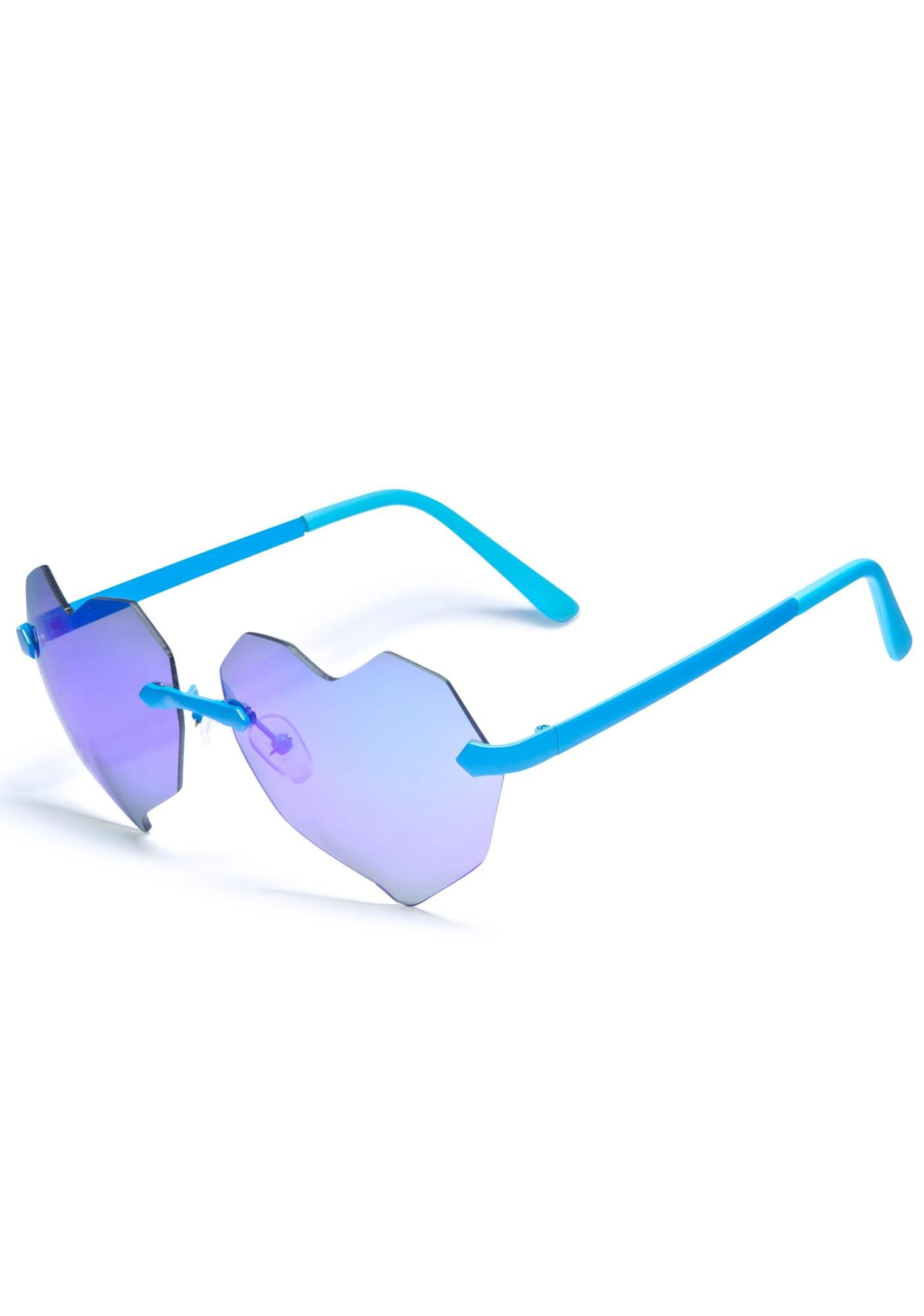 ESQAPE Lovelii Blue Heart Sunglasses