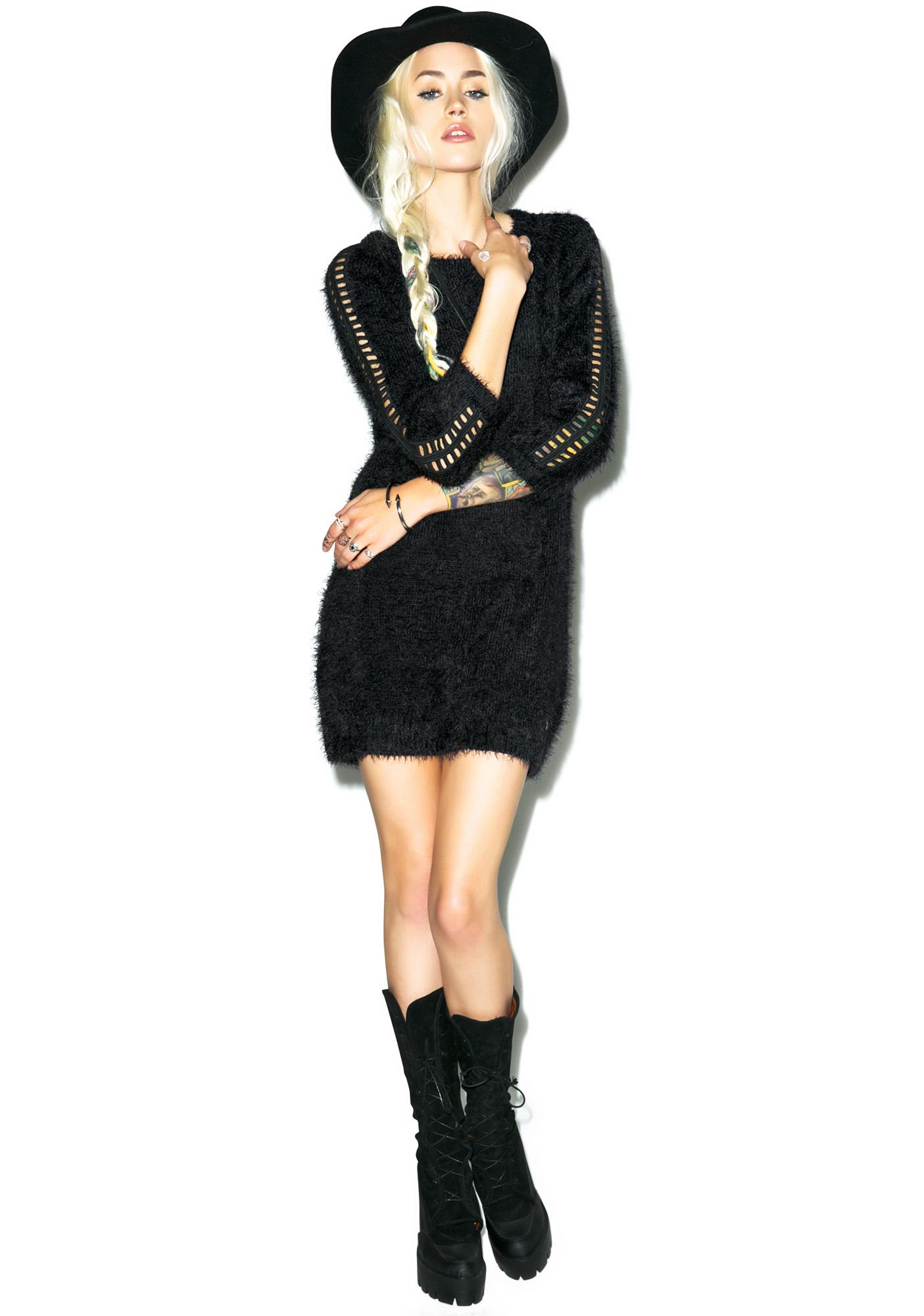 For Love & Lemons Bardot Sweater Dress