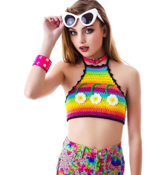 UNIF Six Daisy Halter Top