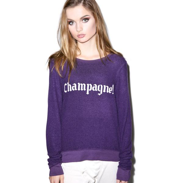 Wildfox Couture Winter Diet Beach Baggy Jumper