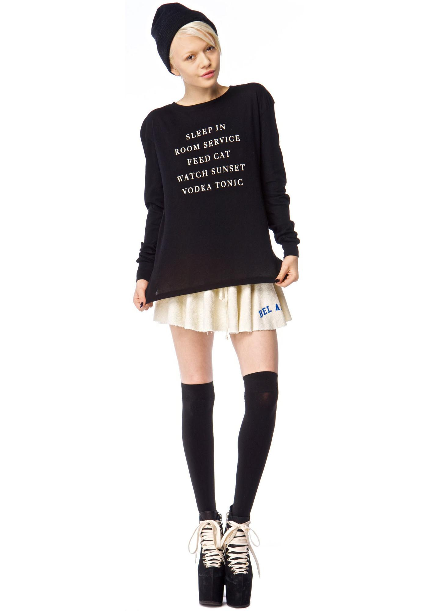 Wildfox Couture Every Day Long Sleeve Crew T
