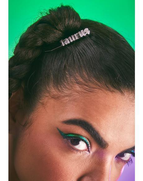 I Am Who I Am Rhinestone Hair Clip