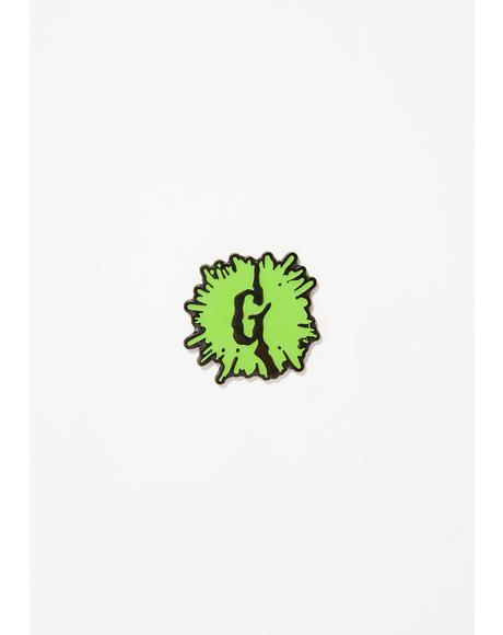 Goosebumps Glow Splat Enamel Pin