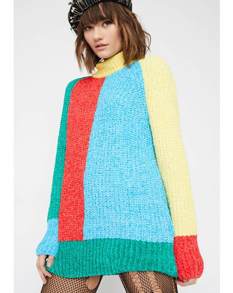 Babe Essential Colorblock Sweater