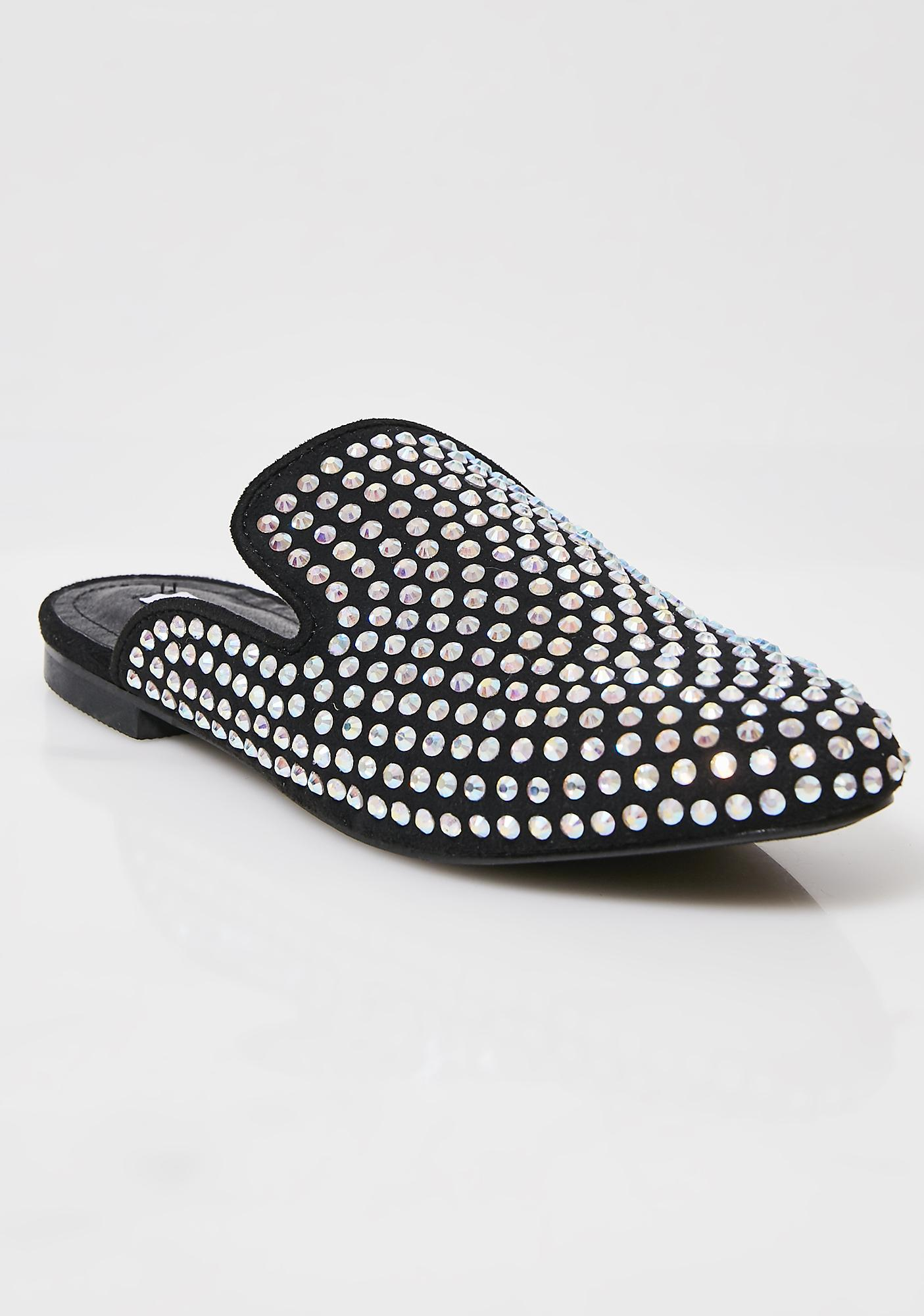 Change Of Pace Rhinestone Mules