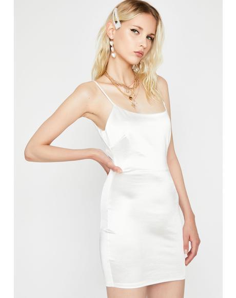 On Ice Satin Mini Dress