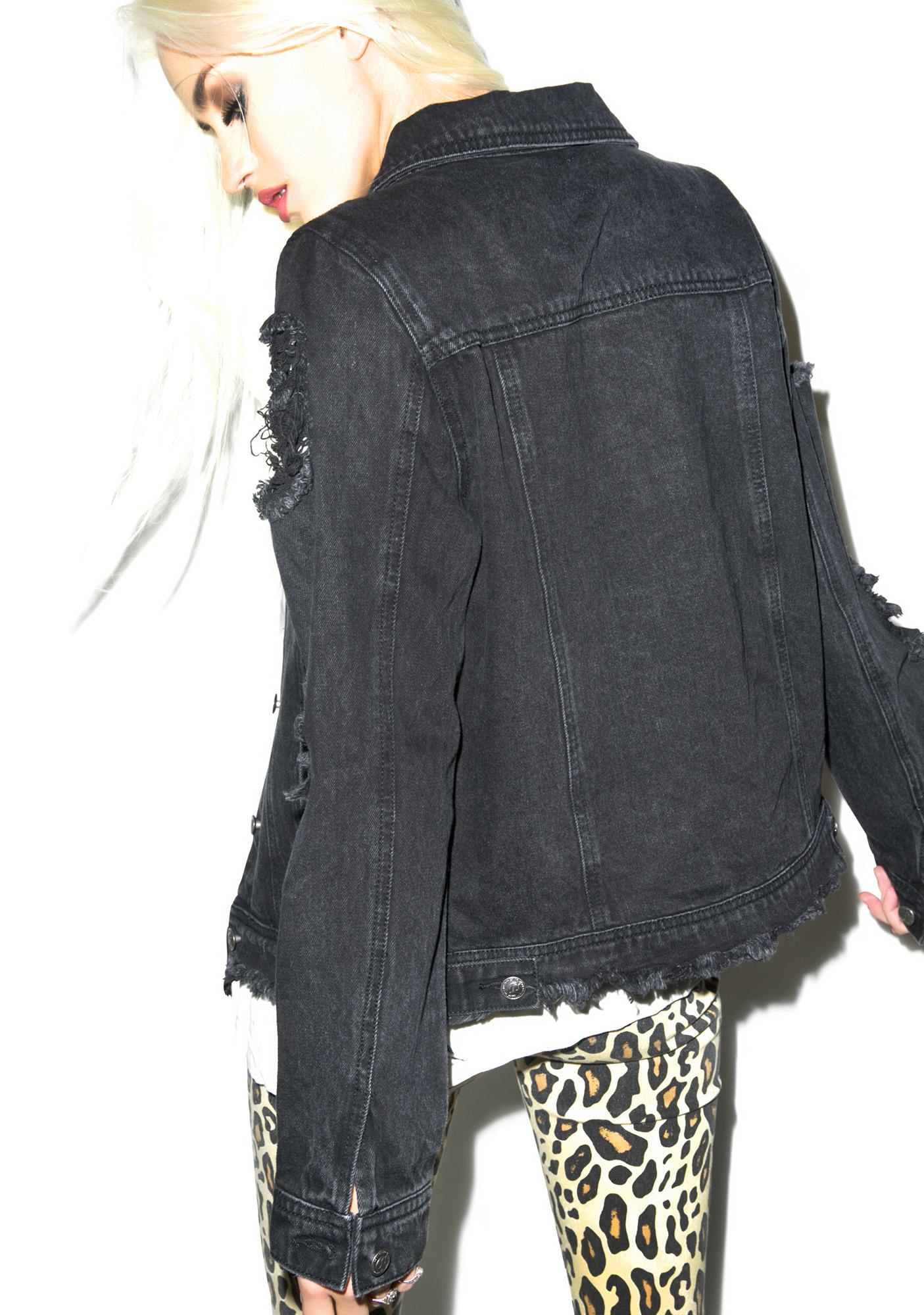 Trap God Destroyed Denim Jacket