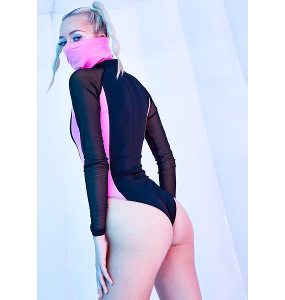 Club Exx Neural Meltdown Bodysuit & Snow Mask Set