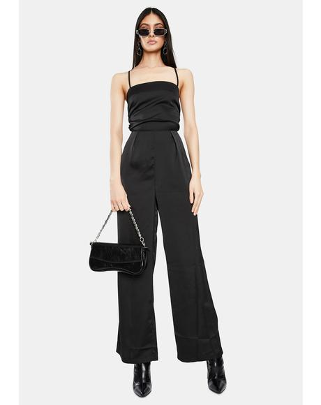 Cabo Satin Wide Leg Jumpsuit