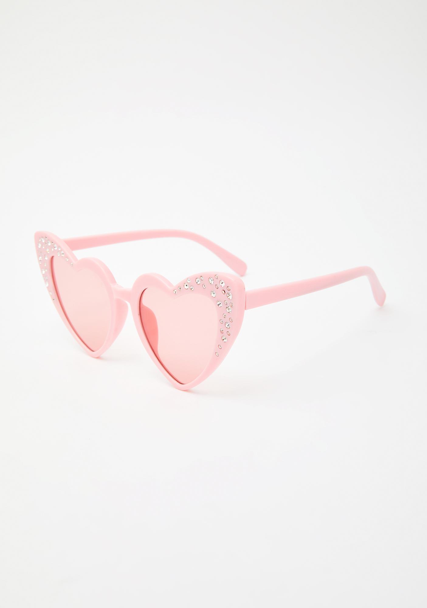 Sweet Femme Doll Heart Sunglasses