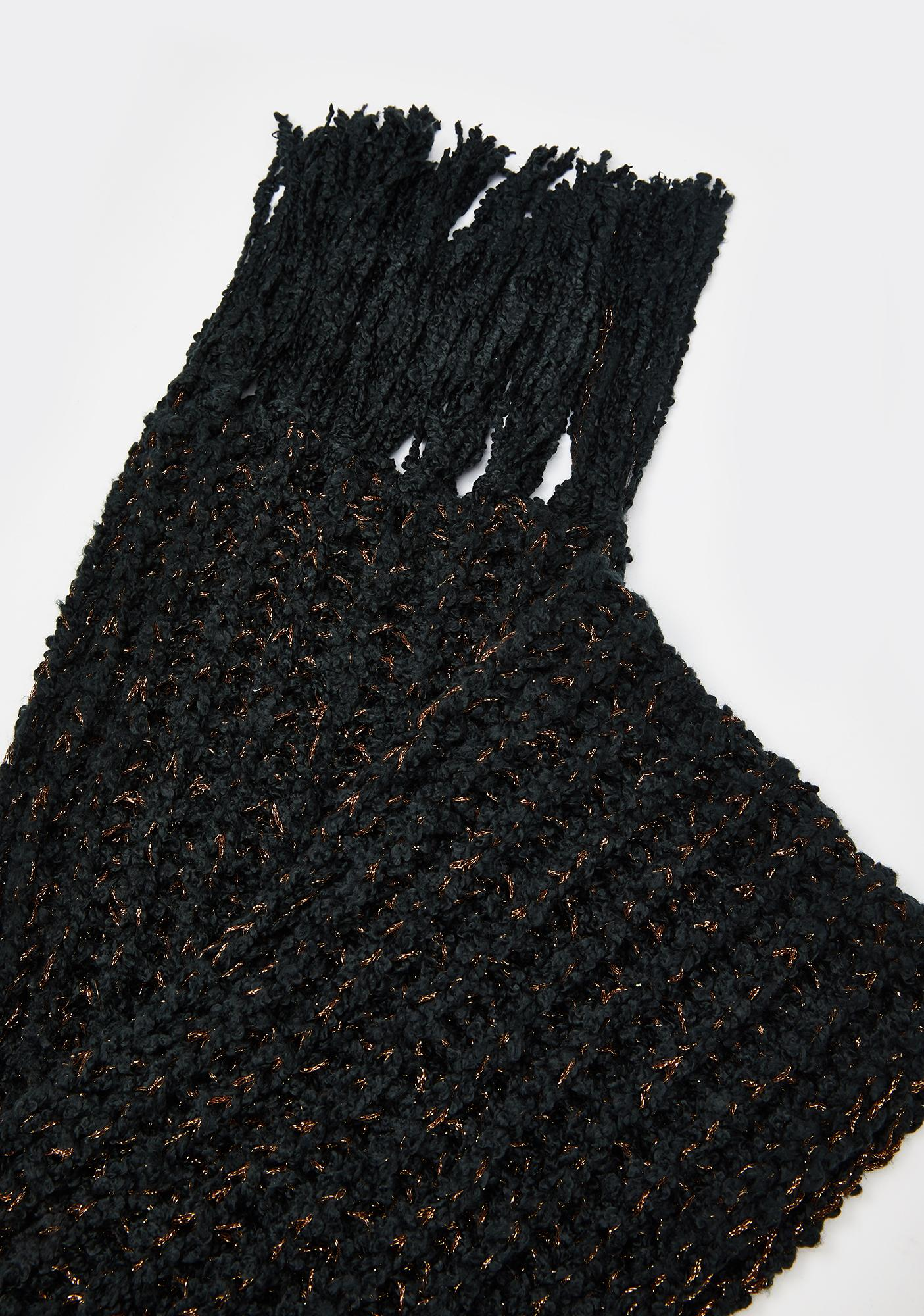 Coal Cozy Memories Knit Scarf