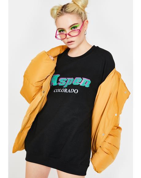 Aspen Oversized Crewneck Sweater