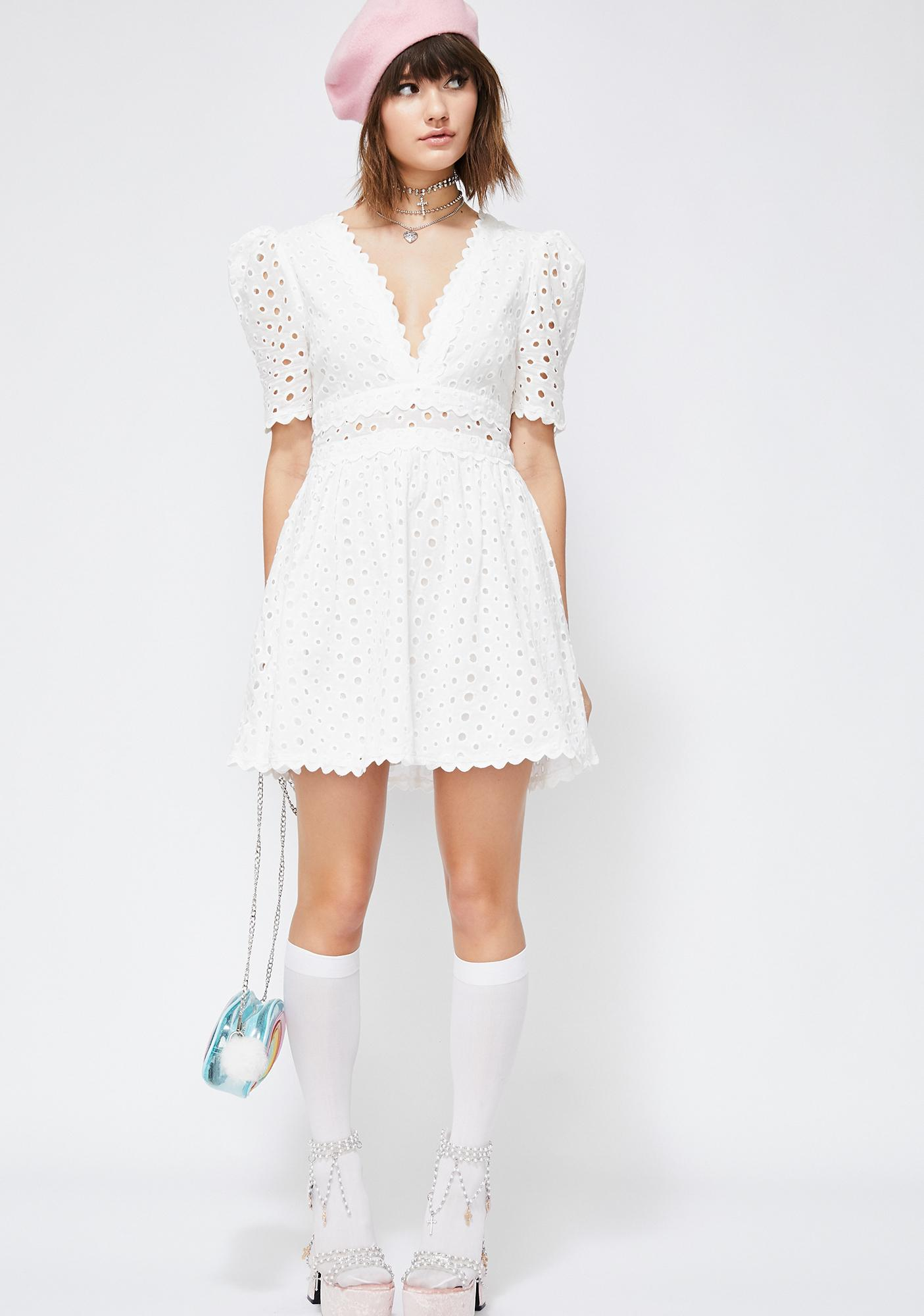 Iced Bubble Pop Electric Mini Dress