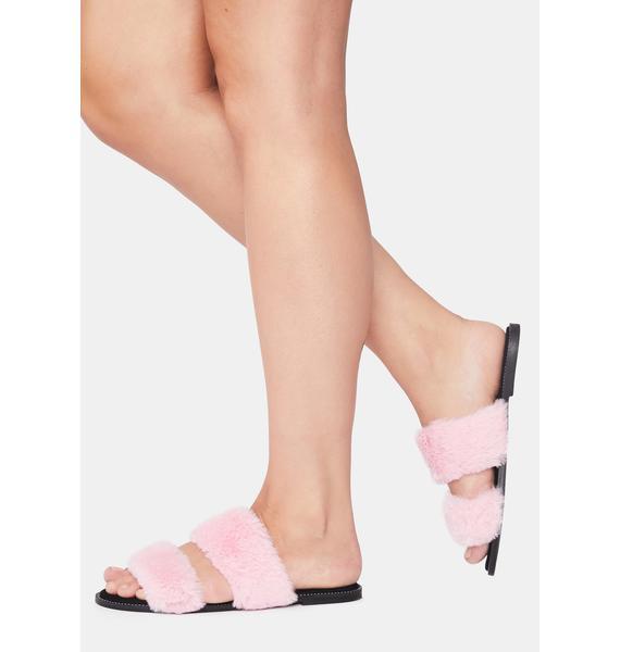 Sweet Miss MInx Faux Fur Slides