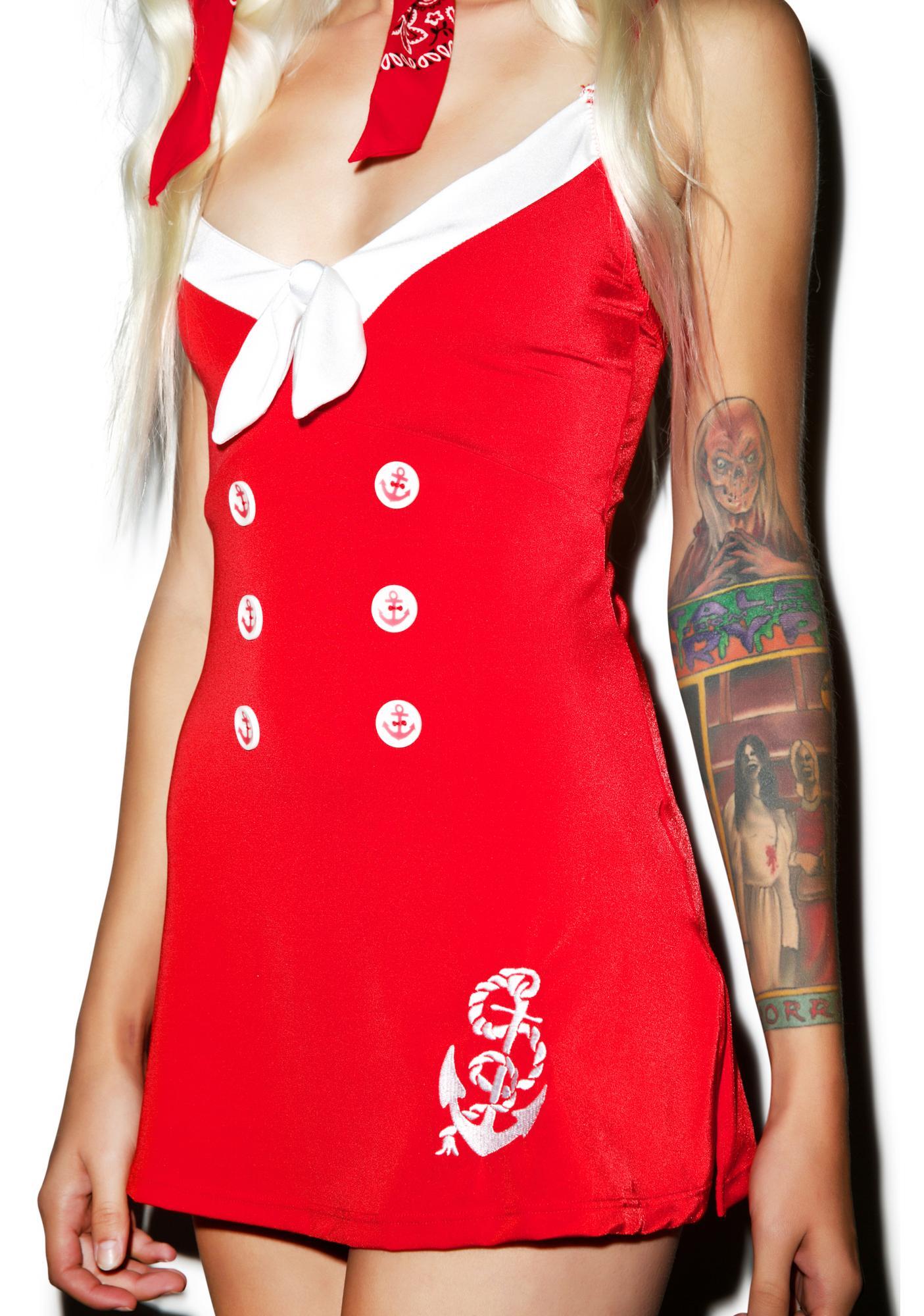 Nautical Naughty Dress