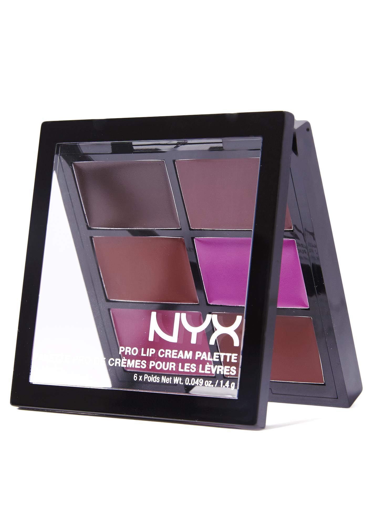 NYX The Plums Pro Lip Cream Palette