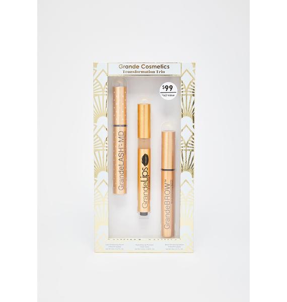 Grande Cosmetics Transformation Trio Brows N' Lips Gift Set