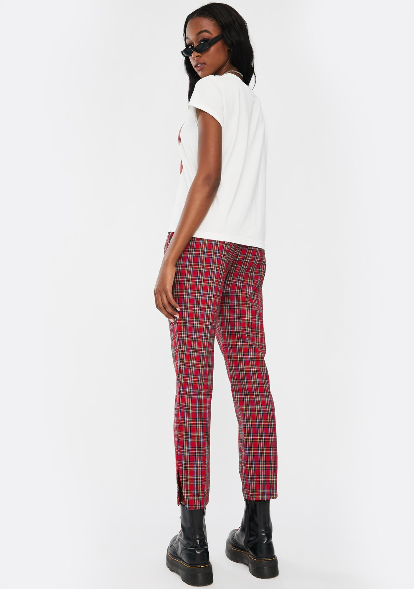 Nana Judy Ebony Tapered Plaid Pants