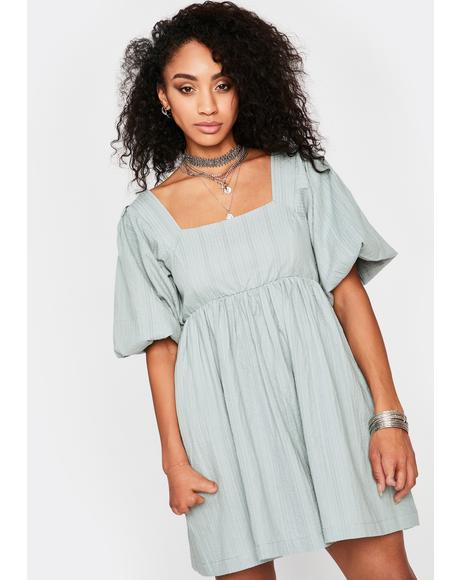 Sage Runaway Sweetheart Mini Dress
