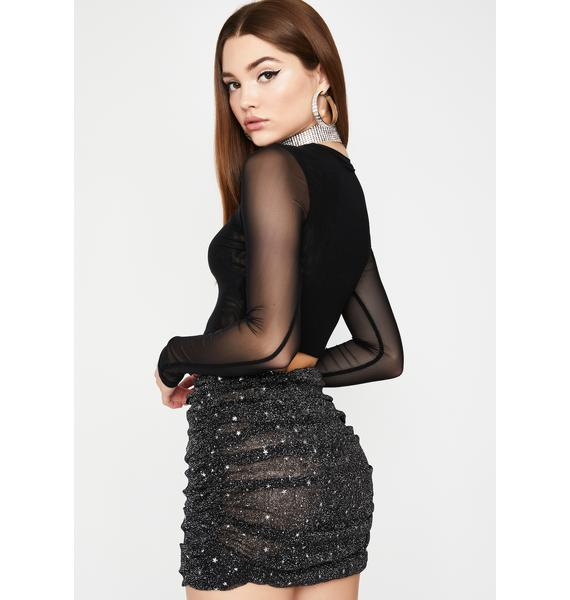 Dark Shining Star Ruched Skirt
