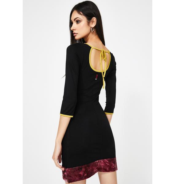 GANGYOUNG Black Spice Mini Dress