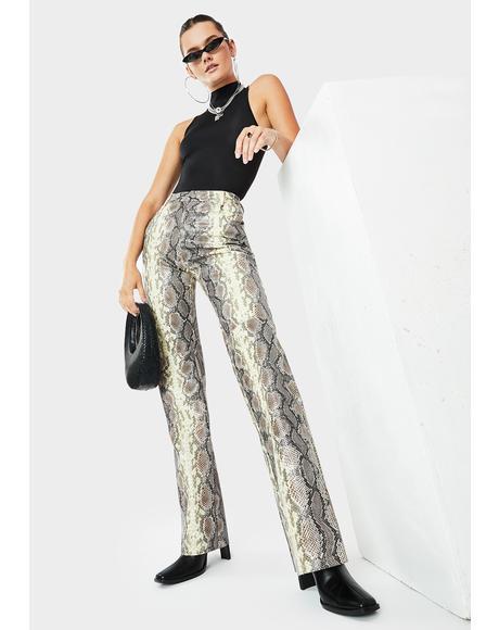 Kelsey Snakeskin Print Pants