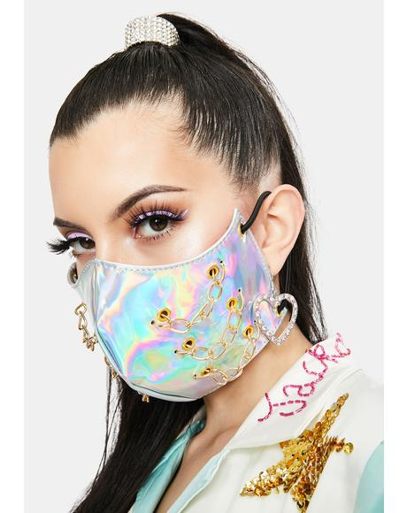 Futuristic Holographic Face Mask