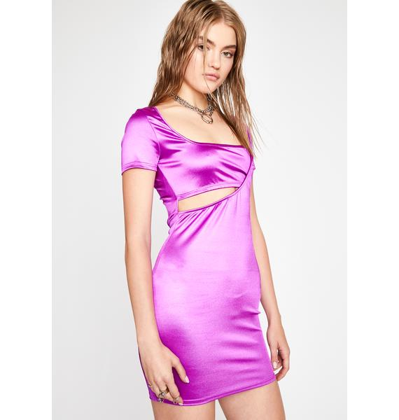 Hot Flash Satin Dress