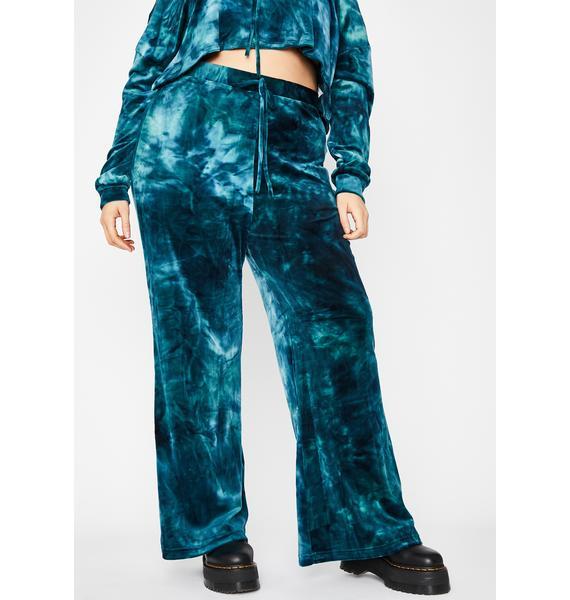 Teal Legit Velvet Heaux Tie Dye Sweatpants