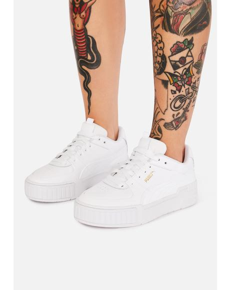 White Cali Leather Sneakers