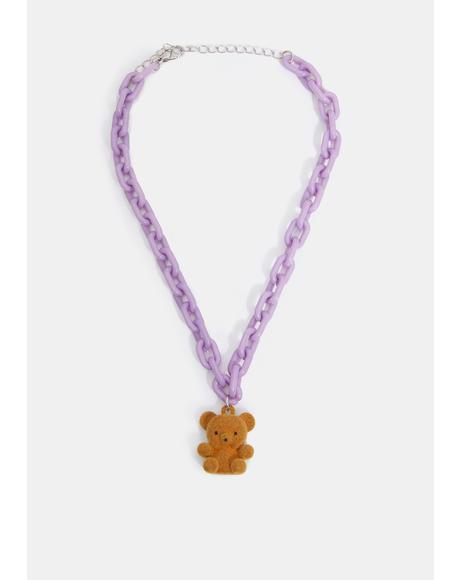 Mr. Teddy Bear Chain Necklace