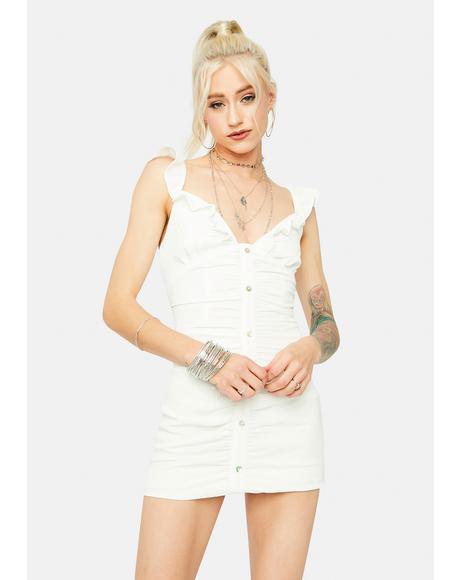 Bliss Girl Meets World Button Front Mini Dress