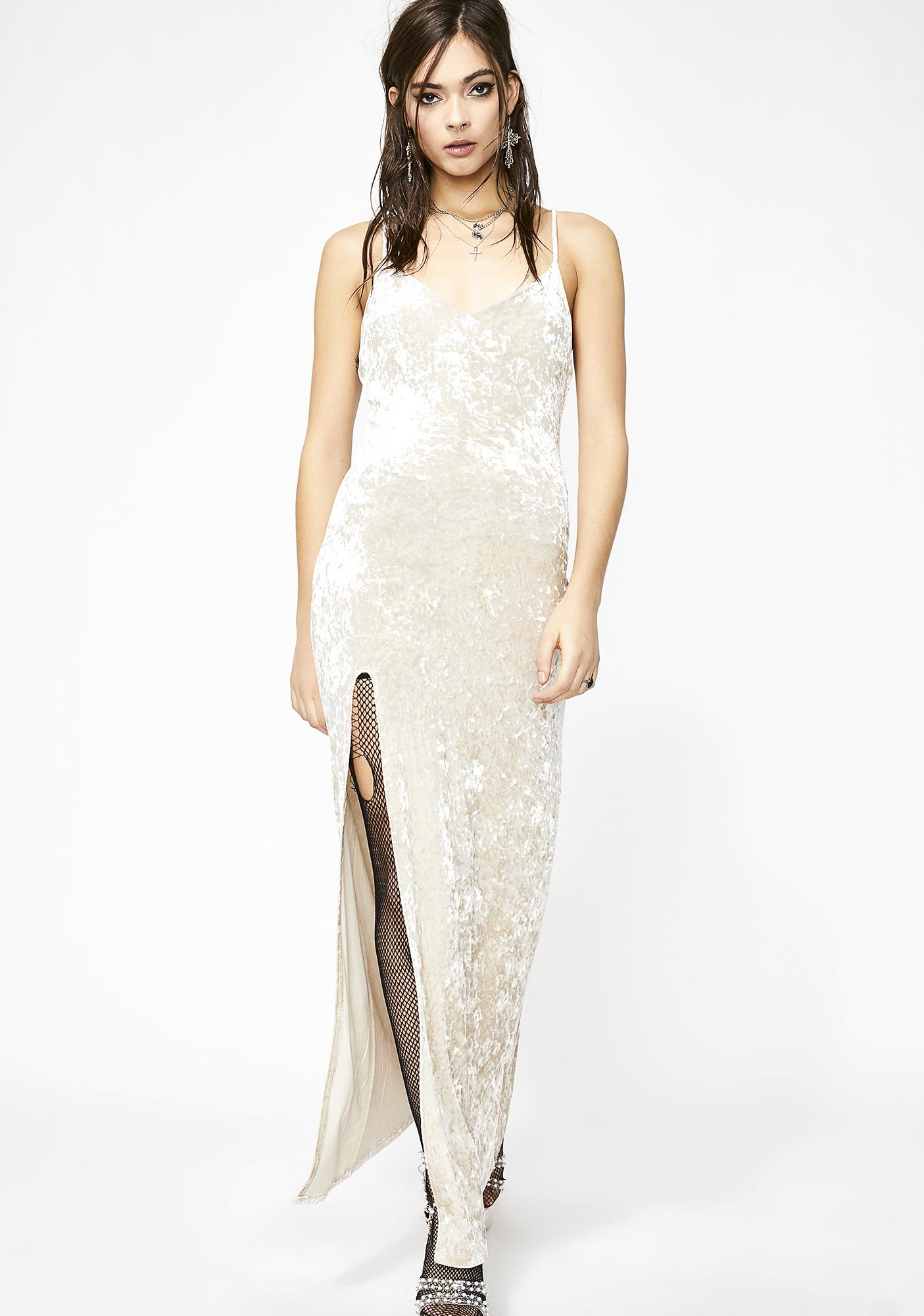 d8b2e6f1a2e Holy Crushed Desires Velvet Maxi Dress