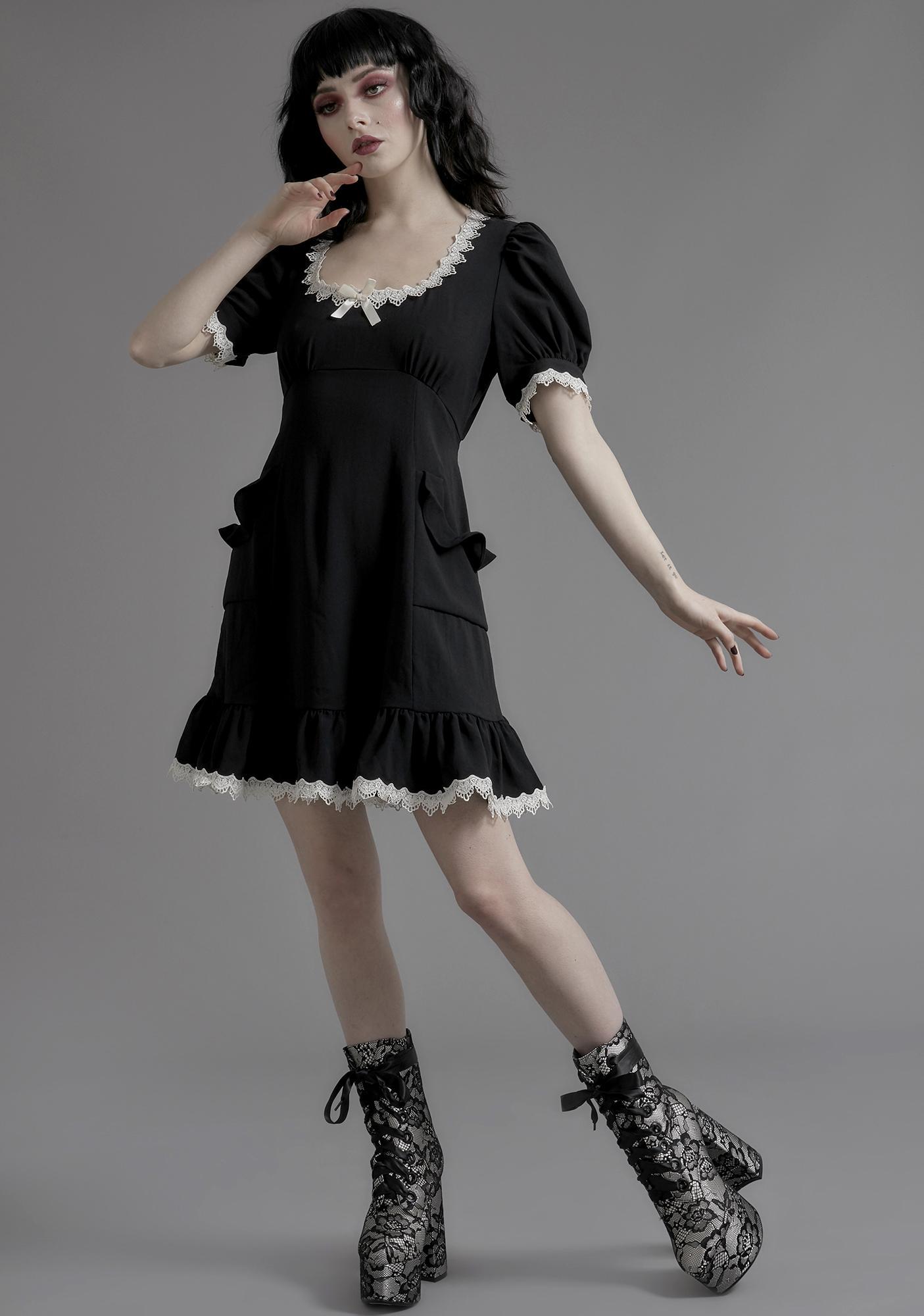 Widow Porcelain Gaze Babydoll Dress