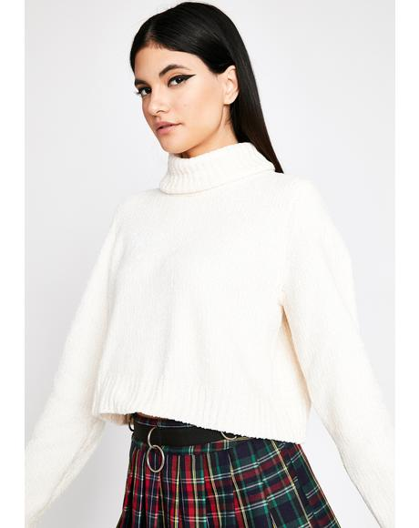 Soft Spot Cropped Sweater