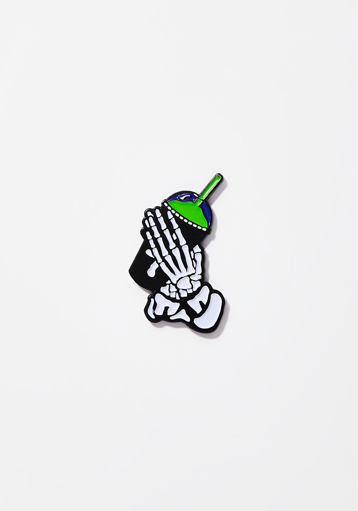Slushcult Slushgod Bones Pin