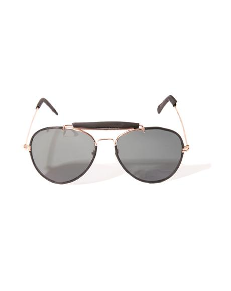 Raisin' Questions Aviator Sunglasses